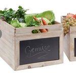 3er Pack Holz-Aufbewahrungsboxen mit Tafel an der Vorderseite für 25€ (statt 38€) – nur in Mömax Filialen