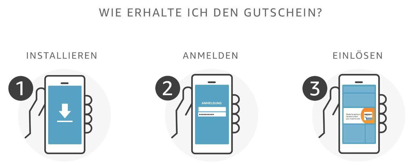 15€ Rabatt in der Amazon Shopping App (ab 30€)   gilt nur bei erstmaliger Nutzung
