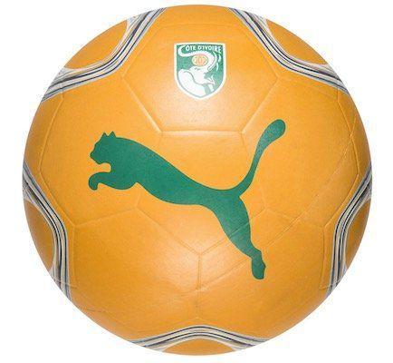 Puma Fußball mit Motiv der Elfenbeinküste (Gr. 5) für 8,39€ (statt 14€)