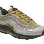 Nike Air Max 97 Trainers Silver Gold Black für 81€ (statt 110€)