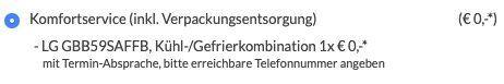 LG GBB59SAFFB Kühl Gefrierkombi mit NoFrost für 489€ (statt 604€) inkl. Komfort Lieferung