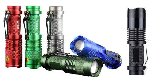 Kleine SK68 Taschenlampe mit 7W für 1,80€