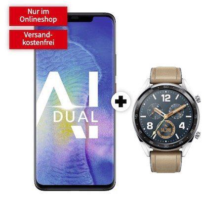 🔥 Huawei Mate 20 Pro Dual Sim + Huawei Watch GT Classic für 49€+ Vodafone Allnet Flat mit 4GB LTE für 31,99€ mtl.