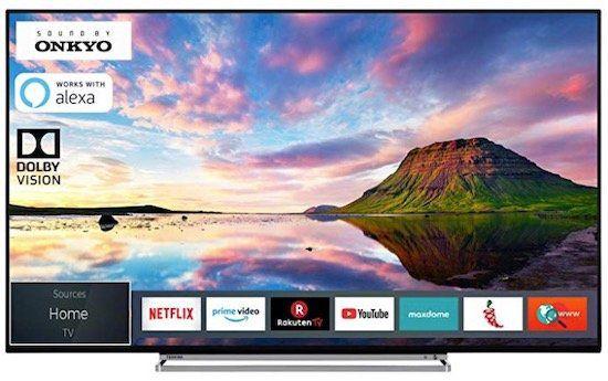 Toshiba 55V6863DA   55 Zoll UHD Fernseher mit Alexa Support für nur 399,99€ (statt 520€)