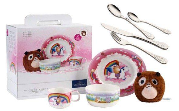 Süß! Villeroy & Boch Lily in Magicland Tafelservice + Piemont Kinderbesteck für 29,95€