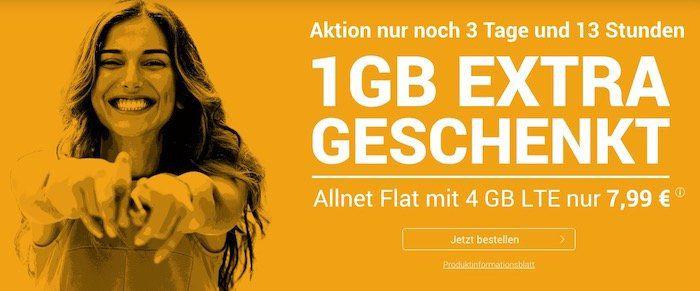 o2 Allnet Flat von winSim mit 4GB LTE für 7,99€   monatlich kündbar