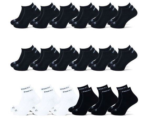 12er Pack ONeill Sneaker Socken + 6er Pack ONeill Quarter Socken für 21,95€ (statt 30€)
