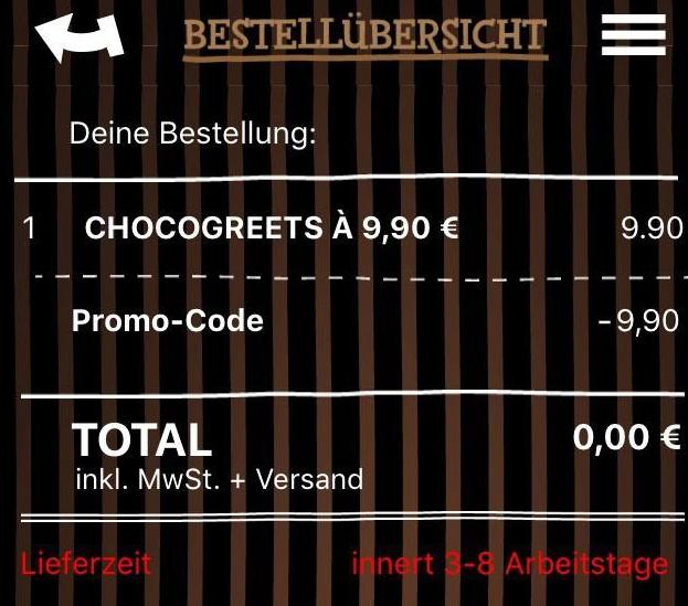 Vorbei! Schokolade mit eigenem Foto kostenlos   Schnell sein!