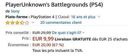 PlayerUnknowns Battlegrounds (PS4) für 13,97€ (statt 25€)
