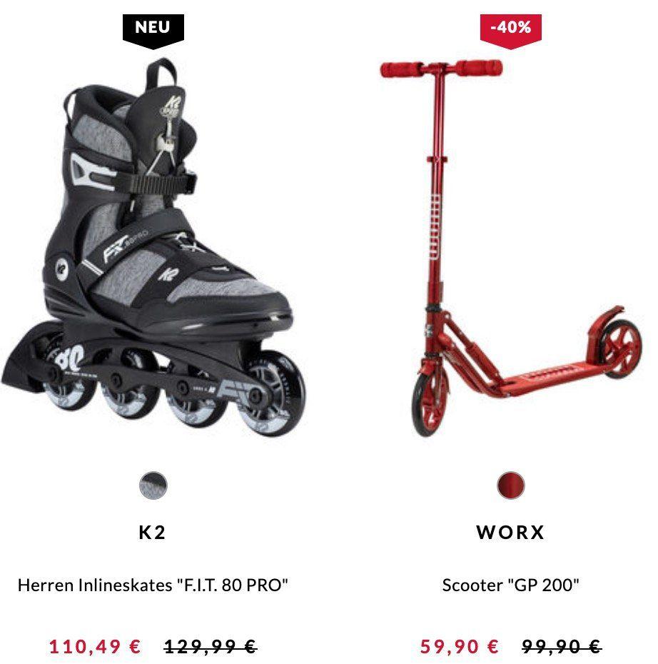 15% Rabatt auf reduzierte Skates und Scooter bei engelhorn + 5€ Gutschein