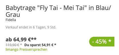Schnell? Fidella Mei Tai Babytrage in versch. Größen ab 69,94€ (statt 139€)