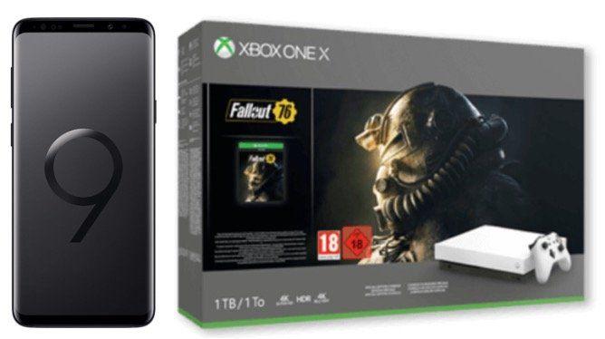 Galaxy S9+ inkl. Xbox One X Fallout 76 Bundle für 49€ + Vodafone Allnet Flat mit 4GB LTE für 31,99€