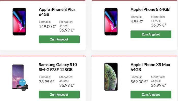 Vodafone LTE Tarife bis 11GB + TOP Smartphone   z.B. Samsung Galaxy Note 9 nur 4,95€ oder Xiaomi Mi 9 für 4,95€