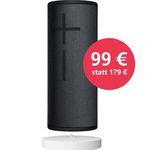 UE Boom 3 Lautsprecher in Night Black + Power Up für 103,99€ (statt 126€)