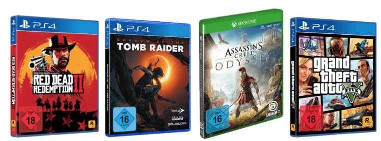 2 Spiele kaufen + 1 Spiel geschenkt bei MediaMarkt   auf PS4, Xbox und PC Titel