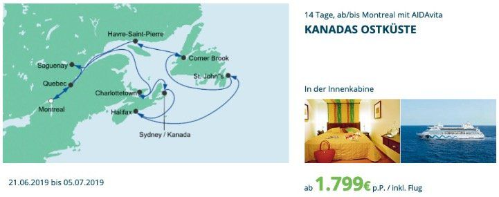 🚢 AIDA Verlockung mit Kreuzfahrt Deals USA z.B. 14 Tage New York, Florida & Karibik mit AIDAluna ab 1.999€. inkl. Flug