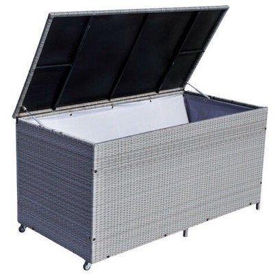 Poly Rattan Auflagenbox mit 950 Litern Volumen für 124,79€