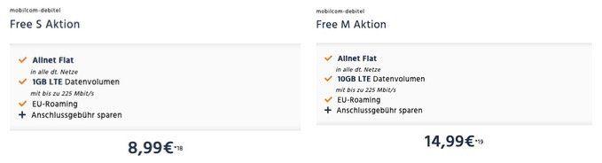 SimOnly: O2 Allnet Flat mit 1GB LTE nur 8,99€ oder mit 10GB LTE nur 14,99€ mtl.   beides danach 1MBit