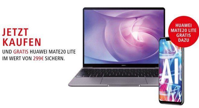 🔥 Huawai Matebook D Notebook für 599€ kaufen und Mate20 Lite im Wert von 227€ geschenkt