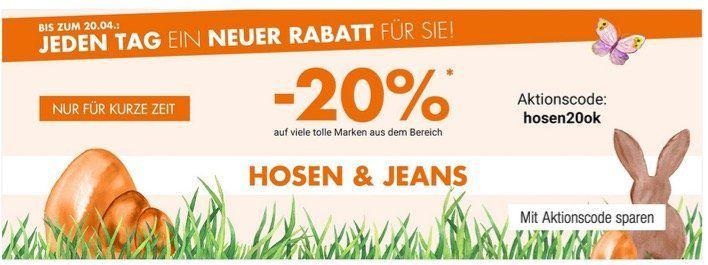 Galeria Kaufhof: 20% Rabatt auf Hosen und Jeans z.B. Jack & Jones Jeans für 19,99€