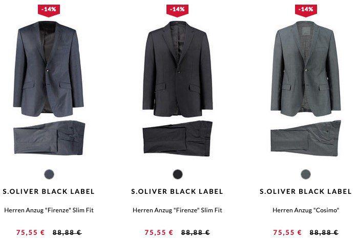 🔥 engelhorn: s.Oliver Black Label Herren Anzüge für 75,55€ (statt 91€)