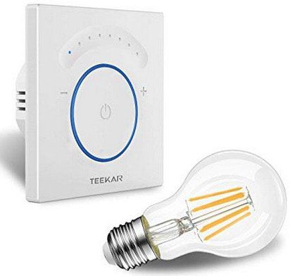 Teekar Smart Schalter mit Dimmfunktion kompatibel mit Alexa/Google Home für 20,64€ (statt 26€)