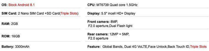 Umidigi A3 5,5 DualSim Smartphone mit 16GB und LTE für 68,39€ (statt 90€)