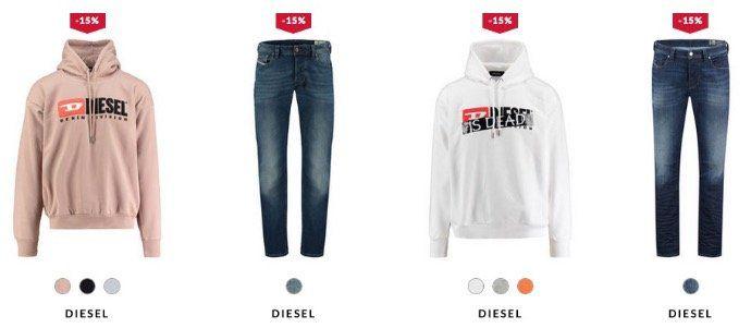 Diesel Bekleidung bei engelhorn mit 15% AmazonPay Rabatt z.B. Diesel Jeans ab 50,91€