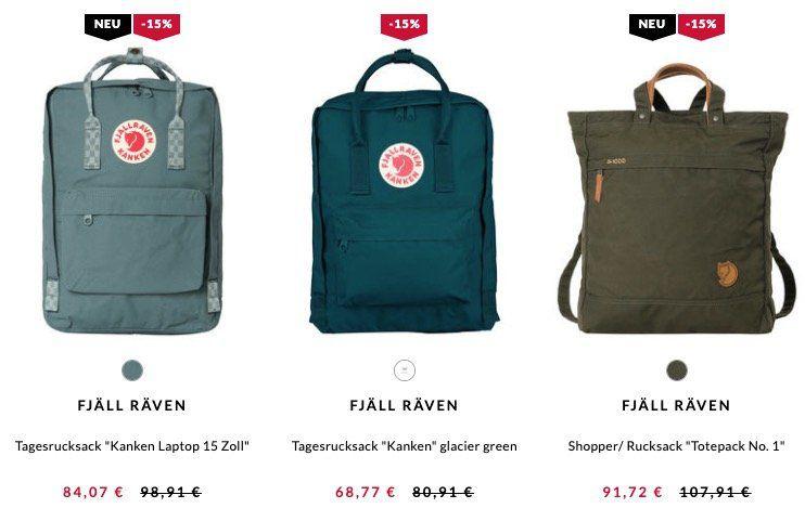 Fjäll Räven Angebote dank 15% bei engelhorn   z.B. Fjäll Räven Rucksack Greenland Zip für 76,42€ (statt 102€)
