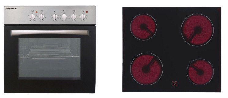respekta Basic Set AN Einbauherd Set mit Glaskeramikkochfeld für 294€ (statt 333€)