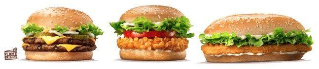 Dreier Bundle aus Crispy Chicken, BigKing und LongChicken für 6,99€ (1.563 kCal)