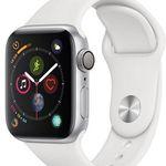 Apple Watch Series 4 40mm Alu-Gehäuse und weißem Sportarmband für 379,90€ (statt 399€)