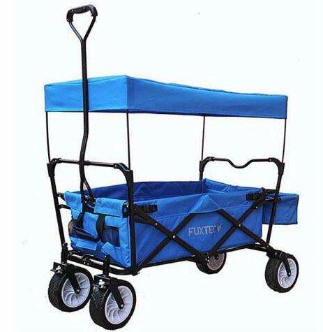Fuxtec FX BW100 faltbarer Bollerwagen für 69,99€ (statt 107€)   reduziert wegen Wasserschaden im Lager