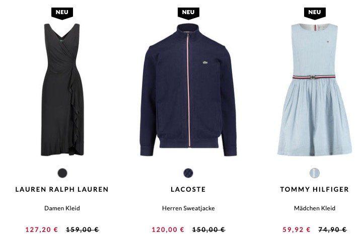 Abgelaufen! 20% Rabatt auf ausgewählte Marken bei engelhorn (z.B.: Lacoste Polo 36€)