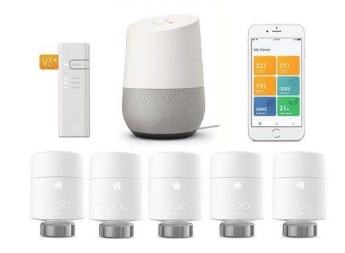 5er Pack tado smarte Heizkörper Thermostate V3+ mit Bridge + Google Home für 358,95€ (statt 463€)
