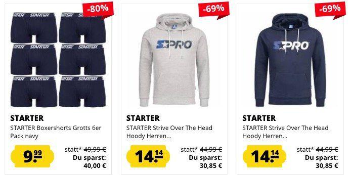 Starter Fashion Sale bei SportSpar   z.B. Poloshirts je 4,44€ (statt 15€)