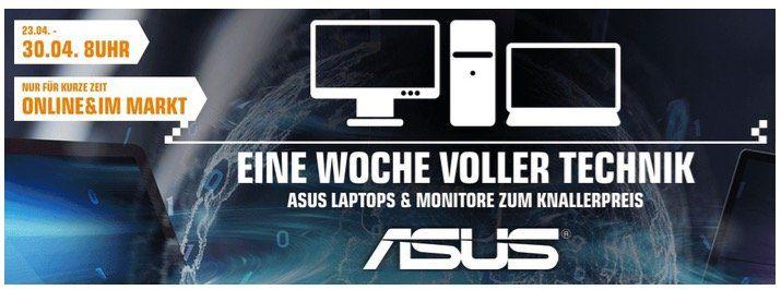 Saturn: Asus Notebook Deals z.B. Asus FX705DY für 799€ (statt 904€)