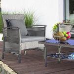 Loungegarnitur Julie 7-teilig (Sitzbank, 2 Stühle, Tisch, Kissen) für 152,65€ (statt 250€)