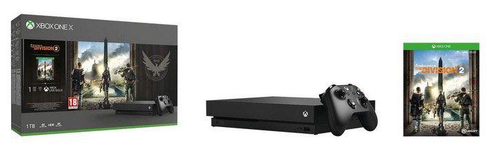 Microsoft Xbox One X 1TB in Schwarz mit The Division 2 im Bundle für 385,75€ (statt 439€)
