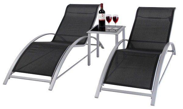 2er Set Giardino Aluminium Liegen mit Tisch für 89,99€ (statt 175€?)