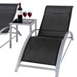 2er Set Giardino Aluminium-Liegen mit Tisch für 89,99€ (statt 175€?)