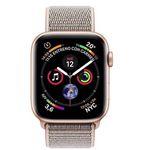 Ausverkauft! Apple Watch Series 4 GPS + Cellular 40mm in Gold Aluminium mit sandrosa Sport Loop für 430€ (statt 515€)