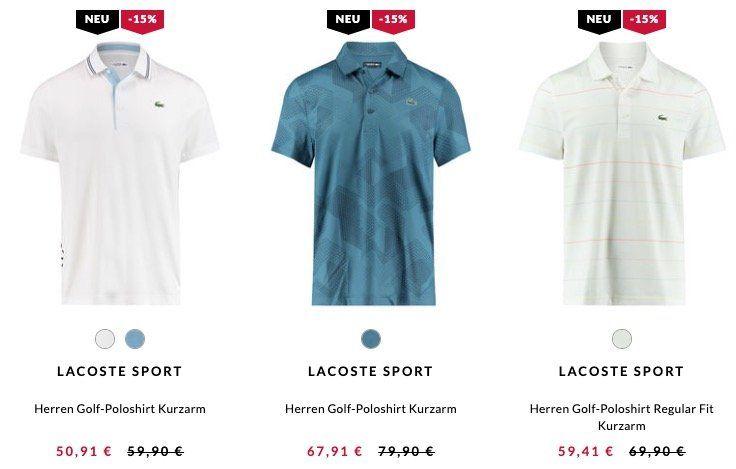 Lacoste Golf Poloshirt ab 50,86€ (statt 75€)   oder 2er Pack für 96,82€ (statt 150€)