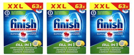 🔥 756x Finish All in 1 Citrus Spülmaschinentabs (12 Packungen) für 52€ (statt 90€)   nur 6,8 Cent pro Tab