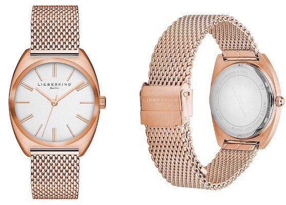 Liebeskind LT 0032 MQ Quarz Damen Armbanduhr in Roségold für 49,99€ (statt 85€)
