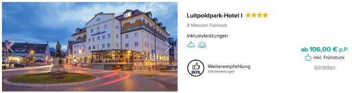 Schloss Neuschwanstein mit Eintritt inkl. ÜN und Frühstück im 4* Sterne Hotel ab 106€ p.P