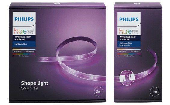 Philips Hue Light Strip+ 2m + 1m Erweiterung für 59,99€ (statt 86€)