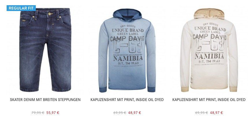 Camp David & Soccx Frühlings Sale mit 30% Extra Rabatt