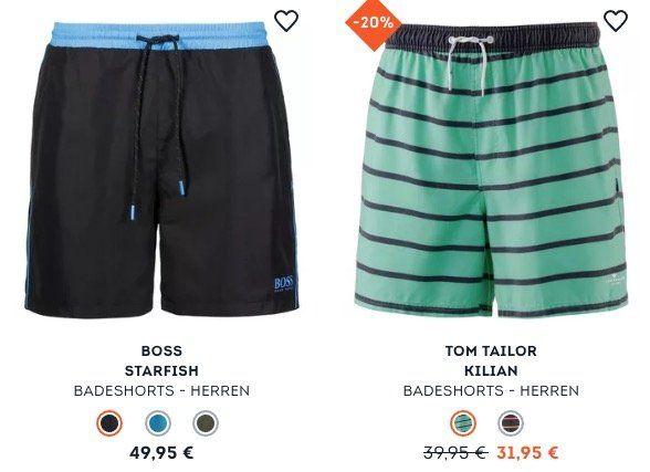 20% auf Bade  und Beachmode bei SportScheck   z.B. BOSS Herren Starfish Badehose für 43,91€ (statt 49€)
