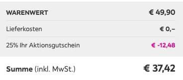 Gartenstuhl Enrico bis max. 120kg für 37,42€ (statt 50€)